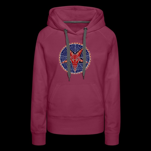Corpsewood Stained-Glass Baphomet - Women's Premium Hoodie