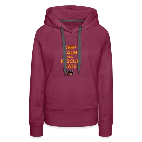 Keep Calm and Rescue Cats - Women's Premium Hoodie