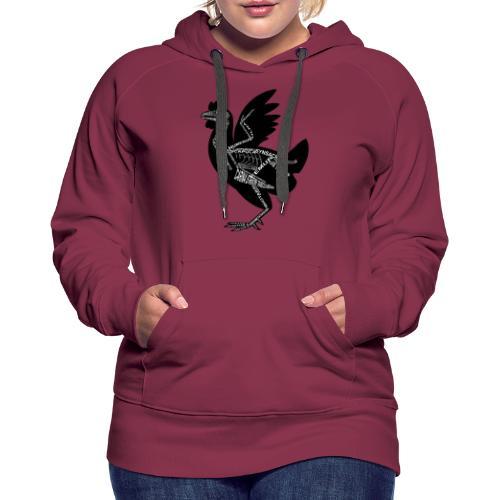 Skeleton Chicken - Women's Premium Hoodie