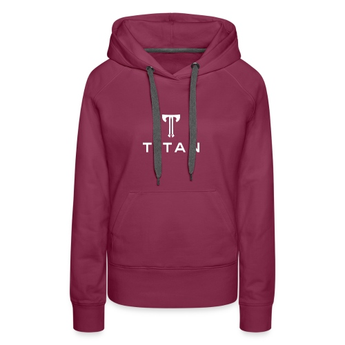 Sword Axes Stacked Text Logo wh transp - Women's Premium Hoodie