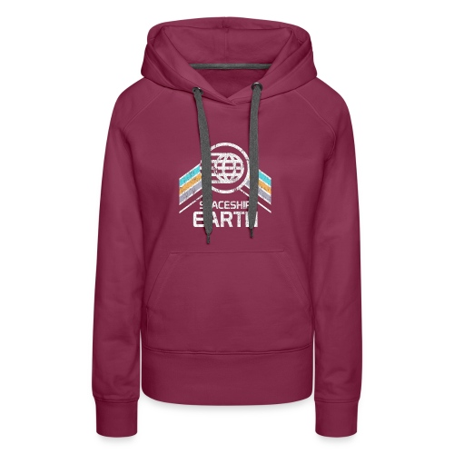 Earth with Distressed Logo - Women's Premium Hoodie