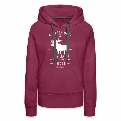 McGrath Meat Company White Stamp Logo - Women's Premium Hoodie