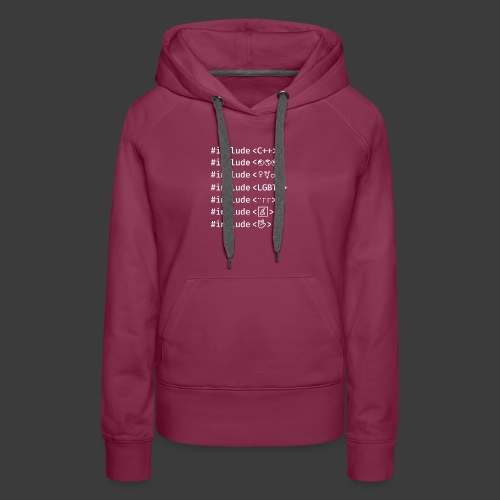 White Include List - Women's Premium Hoodie