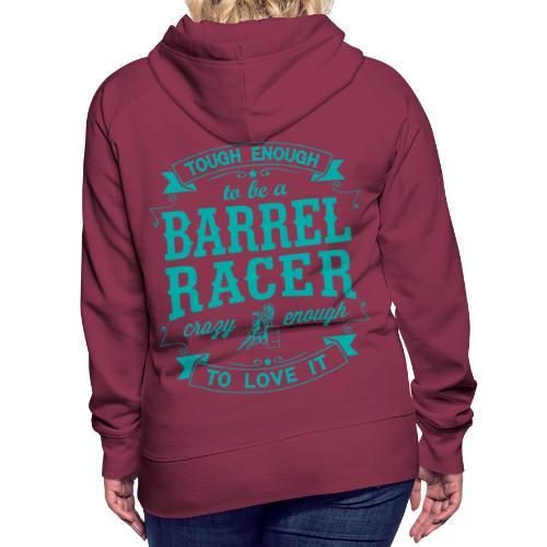 Barrel racer turquoise - Women's Premium Hoodie