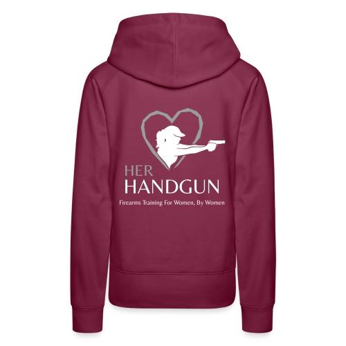 Official HerHandgun Logo with Slogan - Women's Premium Hoodie