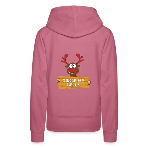 Red Christmas Horny Reindeer 1 - Women's Premium Hoodie