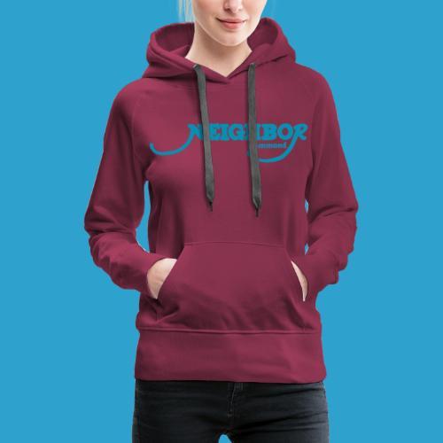 Hammond Blue Font - Women's Premium Hoodie
