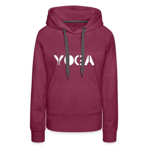 YOGA white - Women's Premium Hoodie