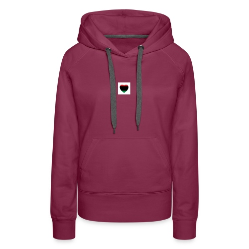 Red green and black heart - Women's Premium Hoodie