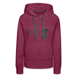 Hand Drawn Halloween Themed Logo - Women's Premium Hoodie