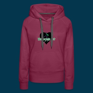 Dancer At Heart (Black Heart) - Women's Premium Hoodie