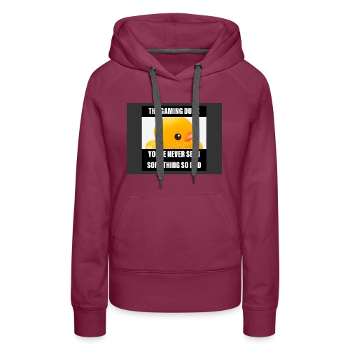 The Gaming Duck meme - Women's Premium Hoodie