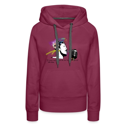 Homage: Billie Holiday - Women's Premium Hoodie