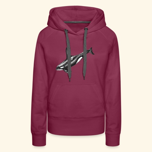 Orca killer whale ink drawing artwork - Women's Premium Hoodie