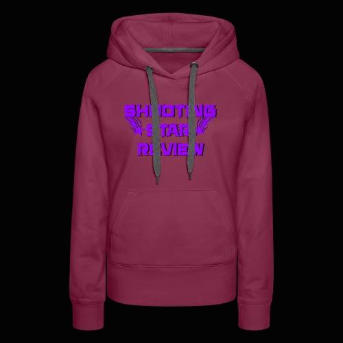 Shooting Star Review Purple Logo - Women's Premium Hoodie