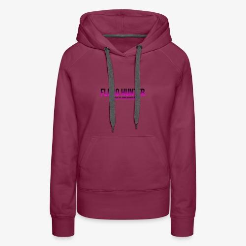 The Fluro Hunter Black And Purple Gradient - Women's Premium Hoodie