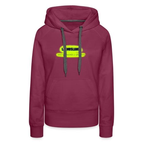 LAGNUSLAND BÄSTA LANDET I VÄRLDEN Logo Yellow - Women's Premium Hoodie