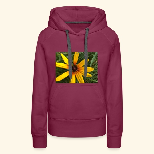 Yellow flower - Women's Premium Hoodie