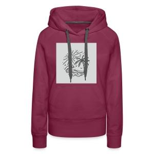 Palm tree clear wave tshirt - Women's Premium Hoodie