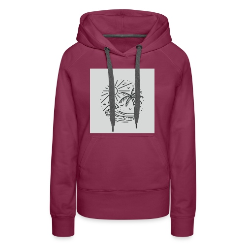 Palm tree clear wave tshirt - Women's Premium Hoodie