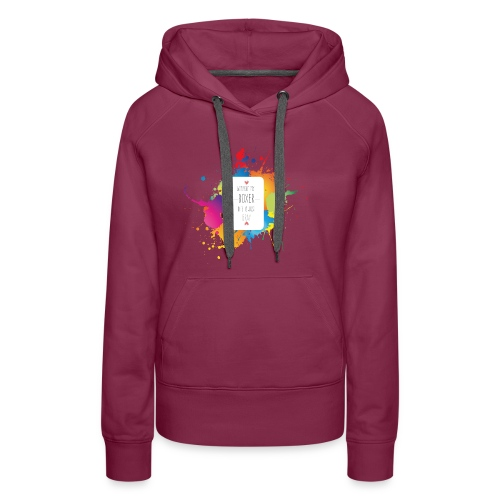 Gray life without a boxer - Women's Premium Hoodie