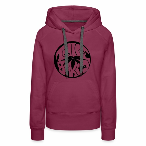 tWicEbakED logo, black circle - Women's Premium Hoodie