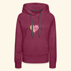 Love Makes My Heart Beat - Women's Premium Hoodie