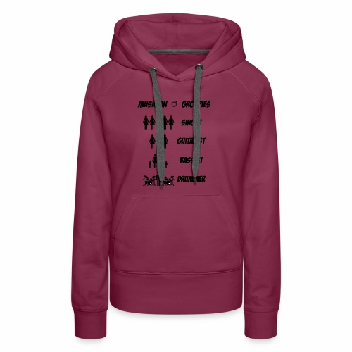 Male Musician Groupies Black Logo - Women's Premium Hoodie