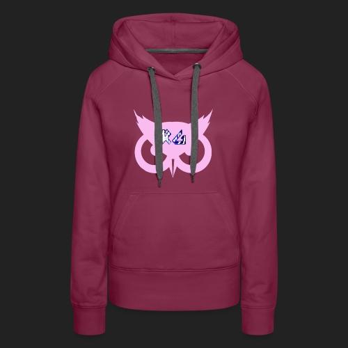 RG Pink Owl Logo - Women's Premium Hoodie