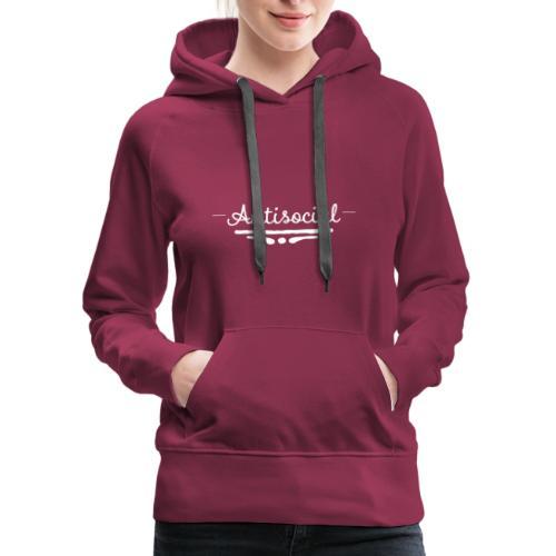 -Antisocial- - Women's Premium Hoodie
