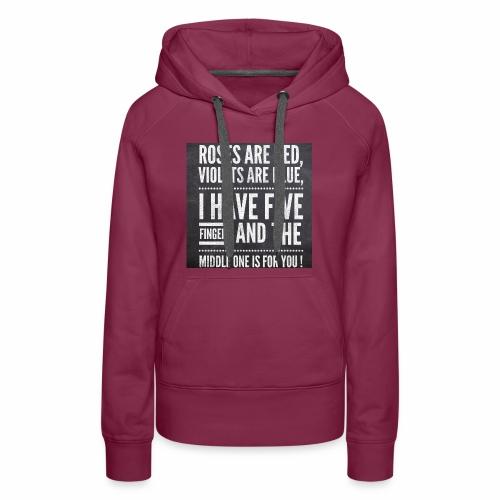 Typographic quoted tshirt - Women's Premium Hoodie