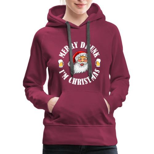 MERRY DRUNK I'M CHRISTMAS WV - Women's Premium Hoodie