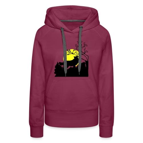 T-shirt Wolf - Women's Premium Hoodie