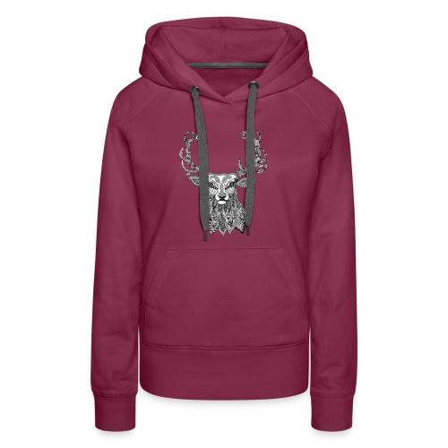 Ornate Buck deer - Women's Premium Hoodie