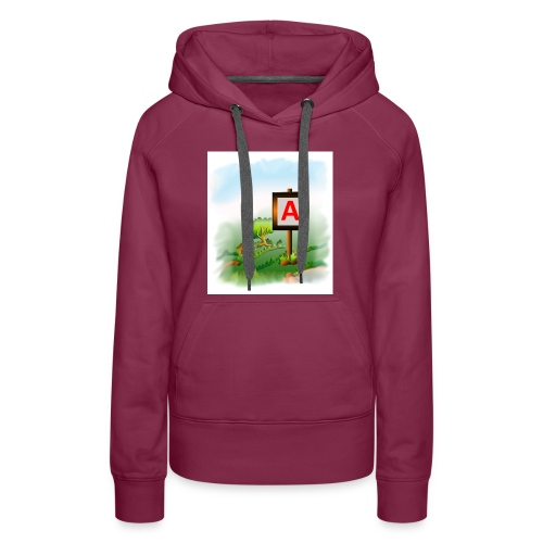Super nature kids love letter A banner - Women's Premium Hoodie