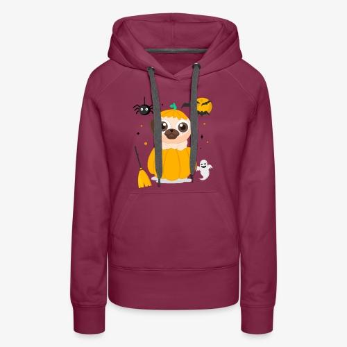 I love Halloween Pug Dog T-Shirt - Women's Premium Hoodie