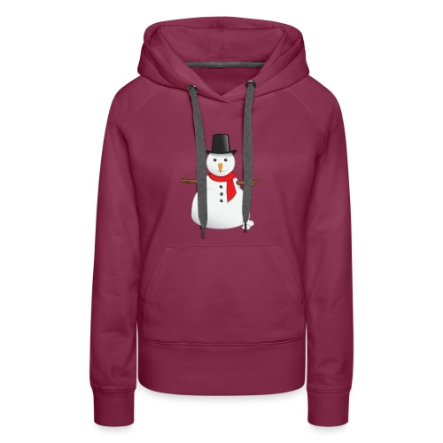christmas-snowman-clipart-this-cute-snowman-clip-a - Women's Premium Hoodie