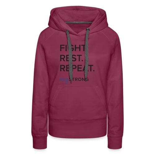 Fight Rest Repeat - Women's Premium Hoodie
