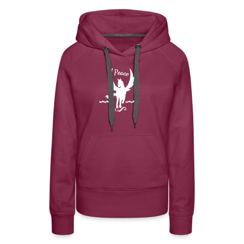 Peace Winged Horse Pegasus - Women's Premium Hoodie