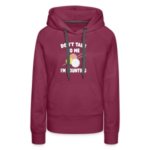 Funny Knitting Crochet - I'm Counting Yarn Knit - Women's Premium Hoodie