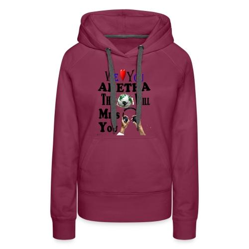 Aretha We Love You Queen Soul - Women's Premium Hoodie