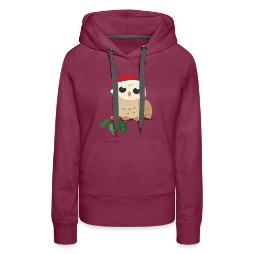 christmas Wild owl - Women's Premium Hoodie
