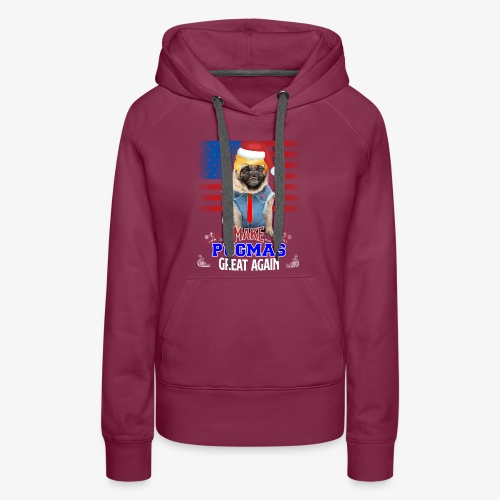 pugmas great again - Women's Premium Hoodie