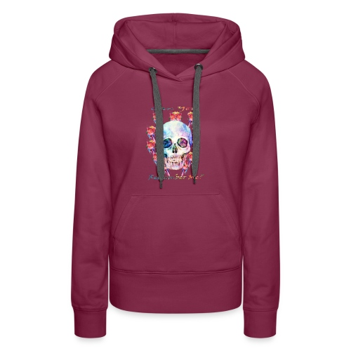 Watercolor skull art - Women's Premium Hoodie