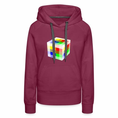 Multi Colored Cube - Women's Premium Hoodie