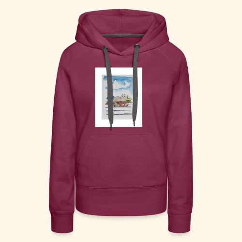 Anna in the Flower Bed - Women's Premium Hoodie