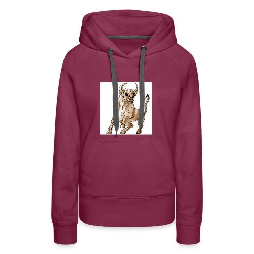 bull icon - Women's Premium Hoodie