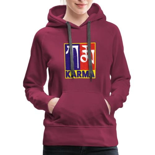 Karma Tibetan Word Text - Women's Premium Hoodie
