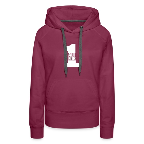 All For One -White- Best Selling Design Best Gifts - Women's Premium Hoodie