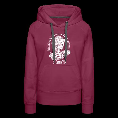 Nothin' Civil White Rose Skeleton - Women's Premium Hoodie